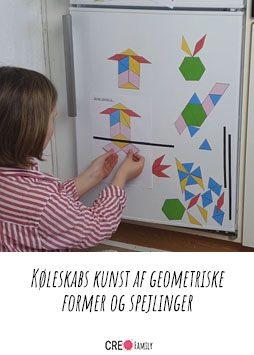 Køleskabs kunst af geometriske former og spejlinger A